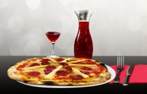 pizza-with-wine